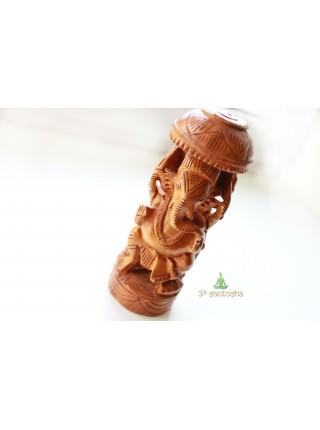 Статуэтка деревянная Ганеша (AK0024)