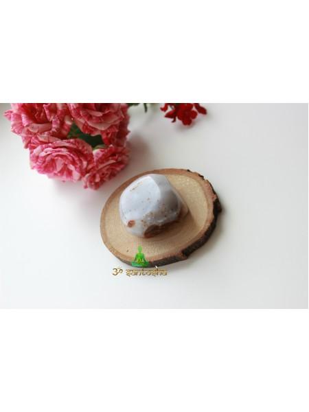 Камень агат серый с коричневым (AK0184)