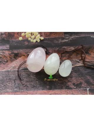 Массажное яйцо из розового кварца 3 см (AK0223)