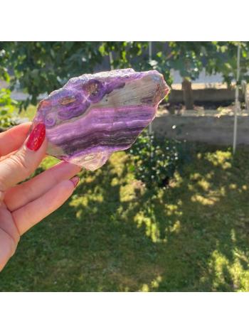 Камень срез из флюорита 11,5х6,5 см (AK0255)