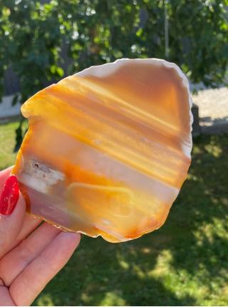 Камень срез из агата 11х9 см (AK0257)