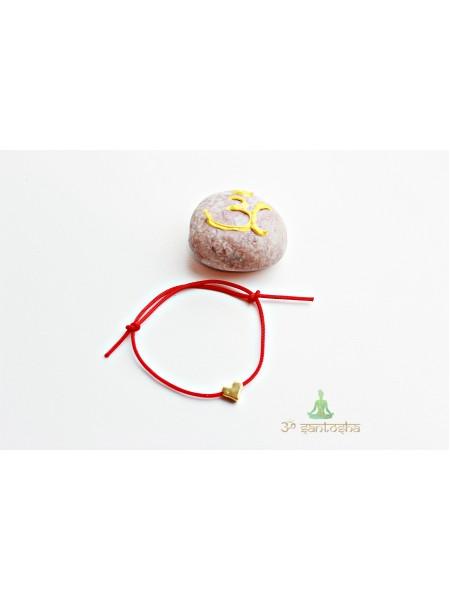 Браслет красная нить амулет, с сердечком (BR0185)