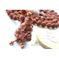 Четки (мала) из Рудракши (108 шт - 10-11 мм) Здоровье и благополучие (CH0154)