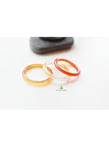Кольцо из сердолика (DF0002) гладкое