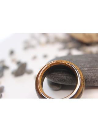Кольцо из камня тигровый глаз (DF0019) 9мм