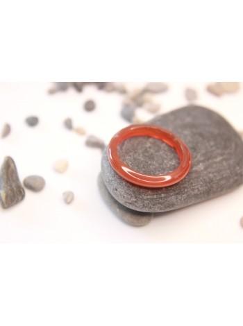 Кольцо из сердолика (DF0025) гладкое