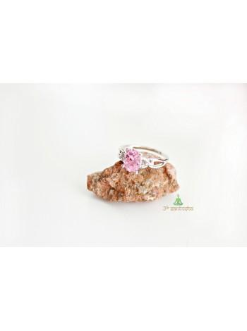 Кольцо с розовым фианитом (KB0032)