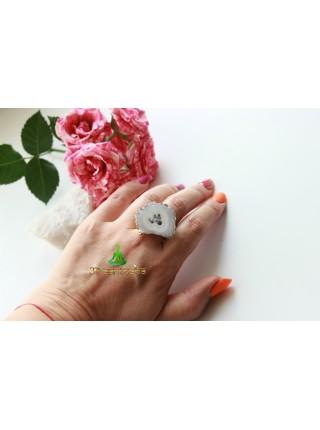 Кольцо друза агата (KB0038)