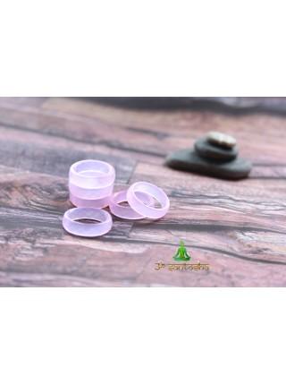 Кольцо из розового кварца (KOS0147)