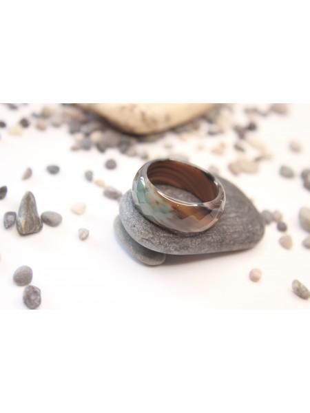 Кольцо из агата (KL0012) 8,5 мм