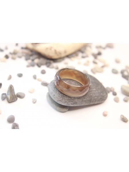 Кольцо из агата (KL0014) 8 мм