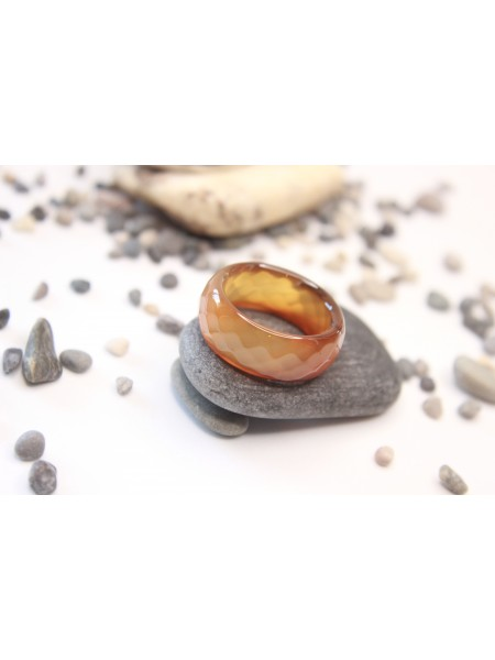 Кольцо из сардоникса (KL0015) 10мм