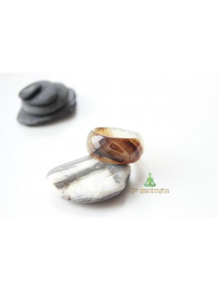 Кольцо из агата (KL0062) 11мм