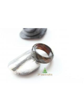Кольцо из агата (KL0063) 9мм