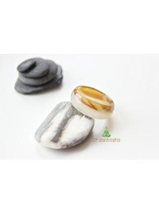Кольцо из агата (KL0064) 9мм