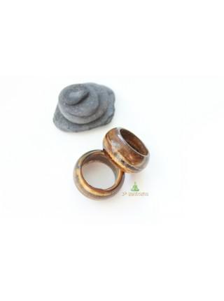 Кольцо из камня тигровый глаз (KL0071) 11мм