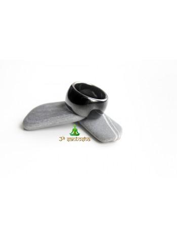 Кольцо из гематита (KL0081) 14 мм