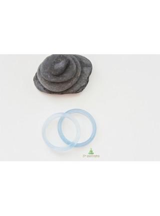 Кольцо из агата (KLU0028) гладкое