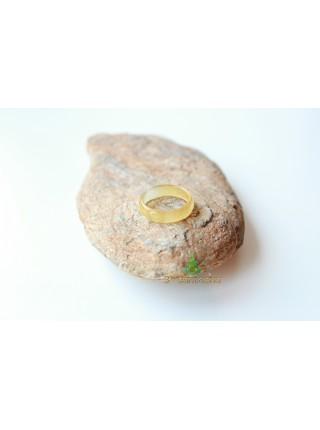 Кольцо из агата (KLU0037) 4,5 мм граненное
