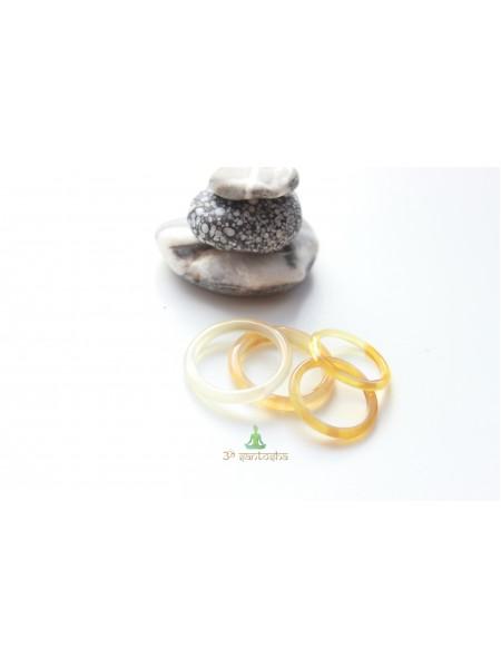 Кольцо из агата (KLU0039) гладкое