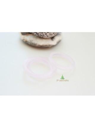 Кольцо из розового кварца (KLU0042) гладкое