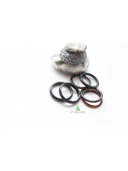 Кольцо из агата (KLU0043) гладкое