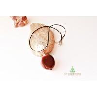 Чокер с кулоном из плода экзотического дерева (SH0078)