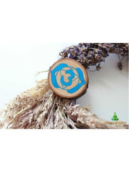 """Значок талисман Чакра """"Аджна"""" (BZ0015)"""
