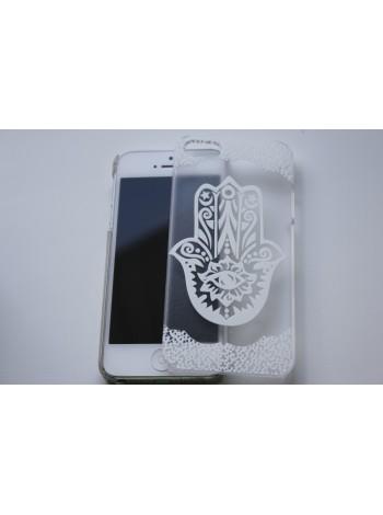 """Чехол для iPhone 5/5s """"Хамса"""" прозрачный (АК0001)"""