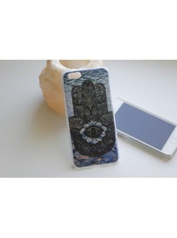 """Чехол для iPhone 6/6s """"Хамса"""" синий (АК0002)"""