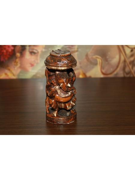 Статуэтка деревянная Ганеша (AK0020)