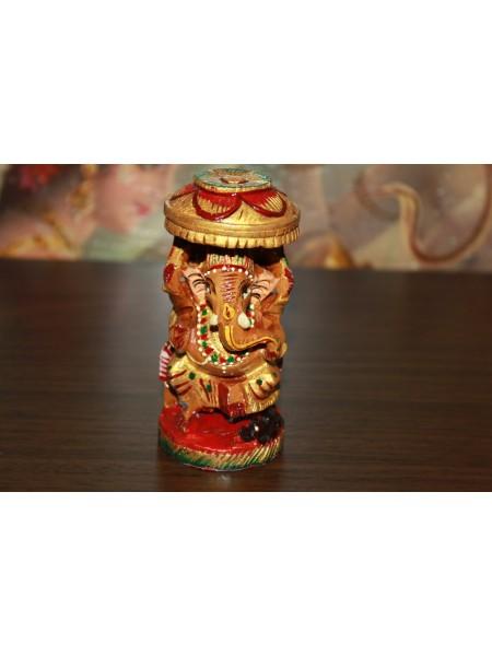 Статуэтка деревянная Ганеша (AK0021)