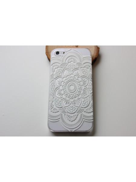 "Чехол для iPhone 5/5s ""Ажур"" прозрачный (АК0069)"