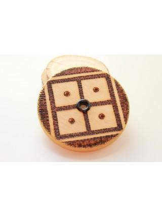 Подставка-оберег деревянная с символом  Новая Жизнь под благовония (AK0083)