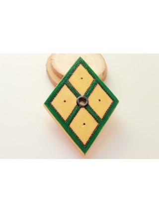 Подставка-оберег деревянная с обережным знаком Земли под благовония (AK0084)