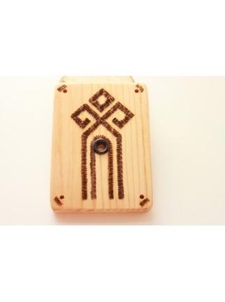 Подставка-оберег деревянная с обережным знаком Чура под благовония (AK0085)