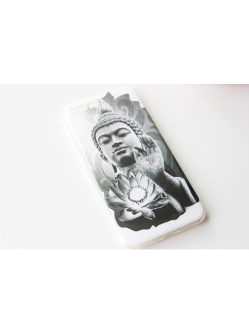"Чехол мягкий ""Будда с лотосом""  iPhone 7  (AK0132)"