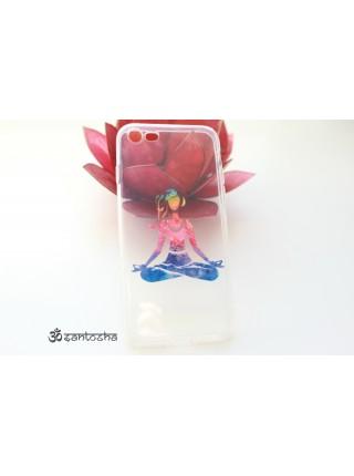 "Чехол мягкий ""Йога Падмасана"" iPhone 7 (AK0158)"
