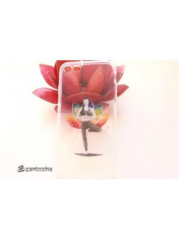 """Чехол мягкий """"Йога Врикшасана"""" iPhone 7 (AK0159)"""