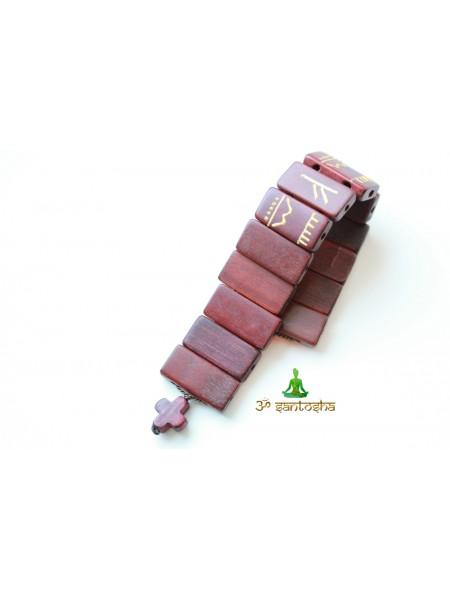 Четки перекидные из бамбука с руной Феху для привлечения достатка (CH0068)