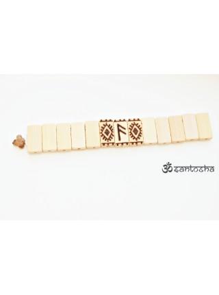 Четки перекидные из бамбука с руной Ансуз для приобретений и удачи (CH0069)
