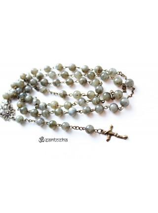 Розарий католический из камня лабрадор (CH0078)