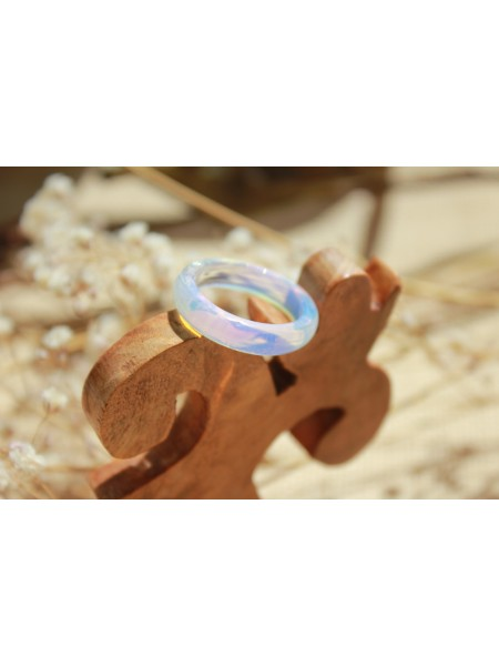 Кольцо из лунного камня (KGS0006) прессованный