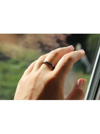 Кольцо из гематита (KLU0010) гладкое 3мм