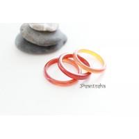 Кольцо из сердолика (KLU0018) гладкое