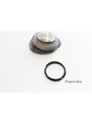 Кольцо из агата ботсвана (KLU0030) гладкое