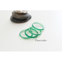 Кольцо из халцедона (KLU0033) гладкое