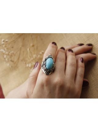 Перстень филигрань бирюза (PR0033)