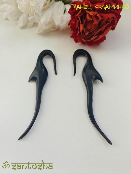 Серьги из кости буйвола (SR0015)